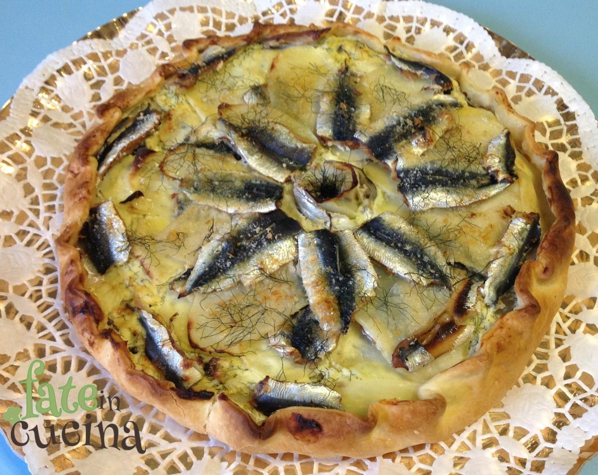 Decorazioni Torte Salate : Torta salata di alici e patate fate in cucina